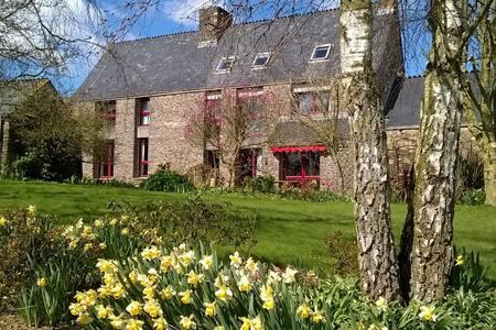 Chambre double à la ferme de Créac'h-Gourles - Wohnung