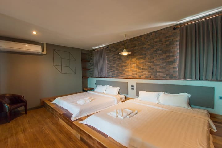 Family suite room @Space59 hotel Ratchaburi