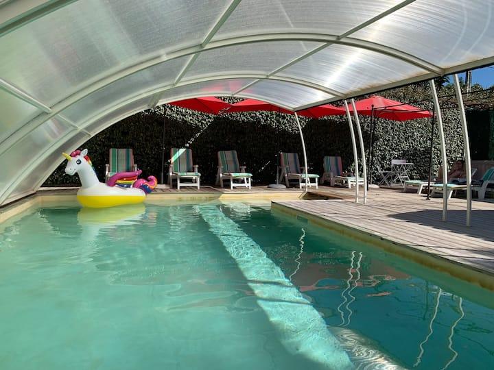 Studio meublé 4 pers avec terrasse et piscine.