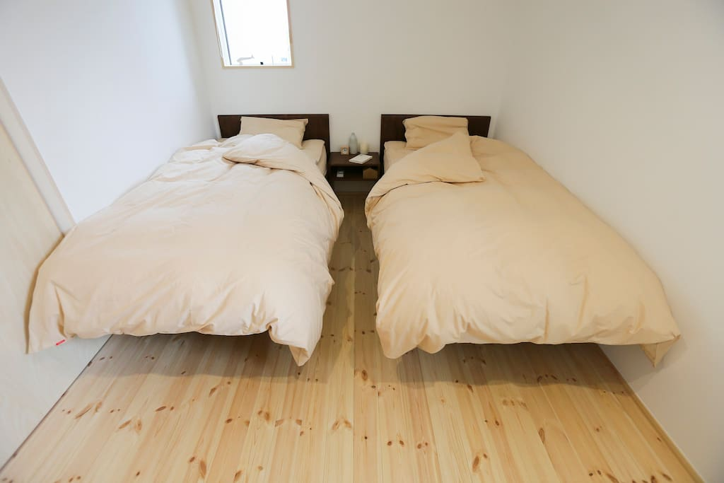 Two comfortable single beds