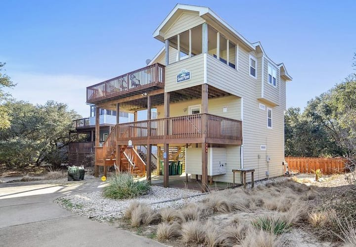 1624 The Sand Piper * 8 Min Walk to Beach * Pet Friendly * Private Solar Heated Pool