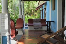 The verandah is a great place to sit and work!