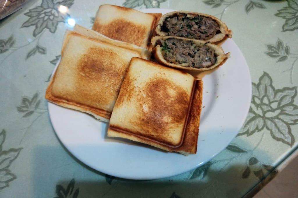 這是親自為房客準備的早餐