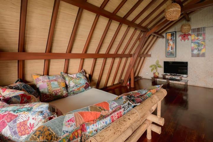 Lounge area villa payung