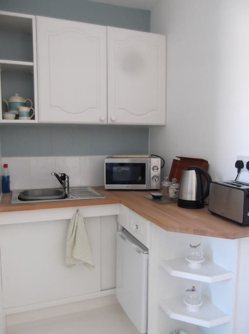 You have your own kitchenette to use at your leisure