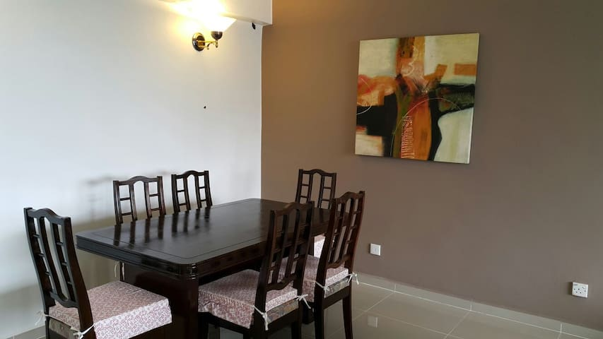 Dining area with comfortable ding table