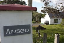 """The name of the house is on the gatepost: Anseo,  which means """"Here"""", as in, """"You are here!"""""""