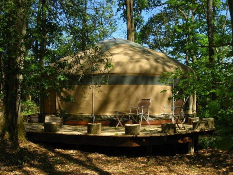 Side view of Savannah yurt