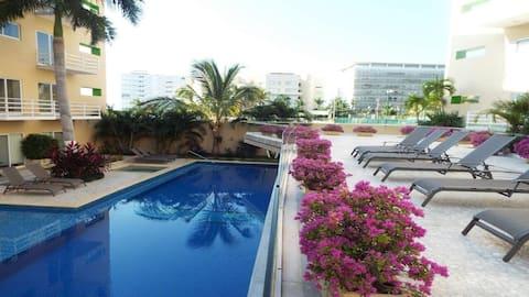 Dpto nuevo en  Acapulco Diamante 7 huéspedes