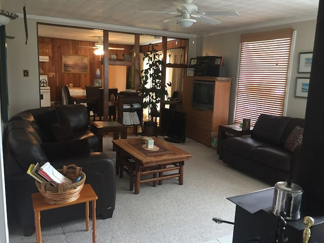 Living room through to Dining area