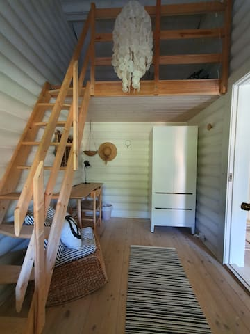 Guest room #3 with a cosy loft-bed (90x200 cm) - see next picture for close-up of bed.