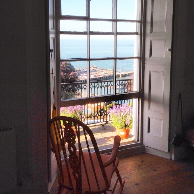 Enjoy beautiful views looking out to Wales from the balcony