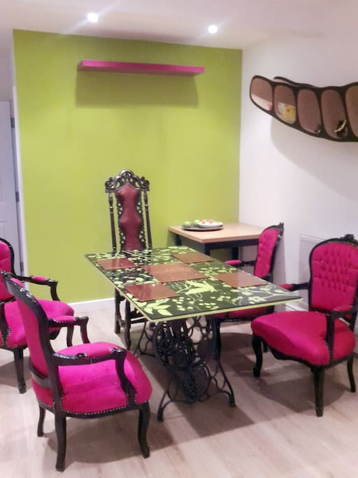 The most colourful dining room you'll ever see
