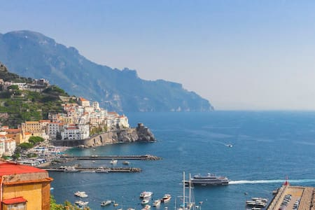 Best sea view in Amalfi! 2 bedrooms, wifi, air-con - Amalfi - Byt