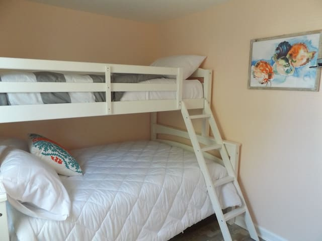 Bedroom 2 with full/twin bunk bed