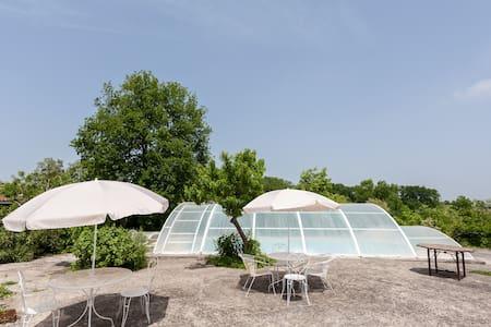séjour avec piscine couverte & spa - Génissac - Dom