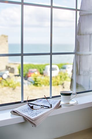 Cup of tea, crossword, sea view...what can be better?