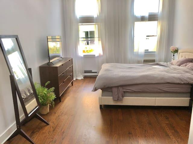 Spacious High Ceilings Bedroom