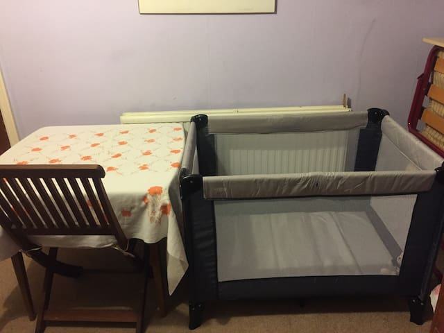 Table and cot when 2 or 3 people