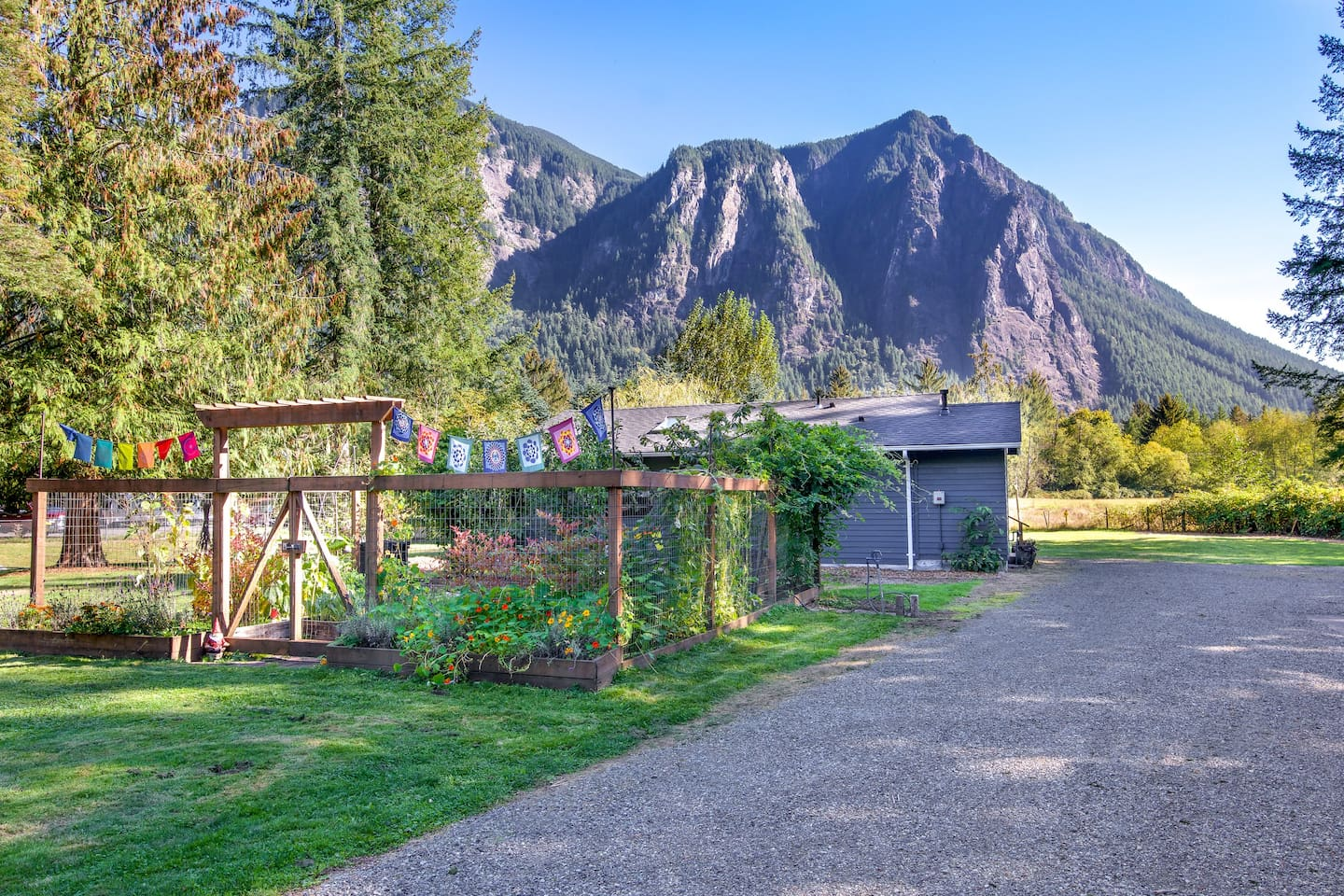 Idyllic setting nestled in the Cascade Foothills with breathtaking views of Mount Si.