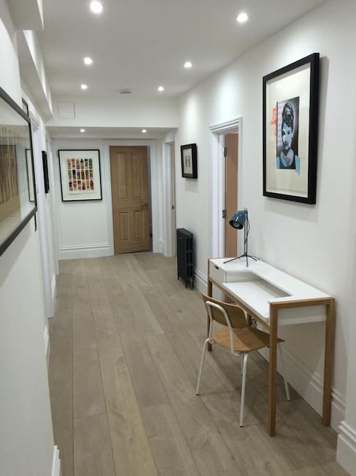 Hall way upon entering flat