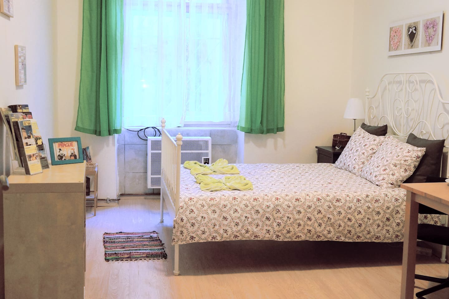 Here it is!  A private apartment in the center of Prague fully equipped, close to everything and easy to get to.