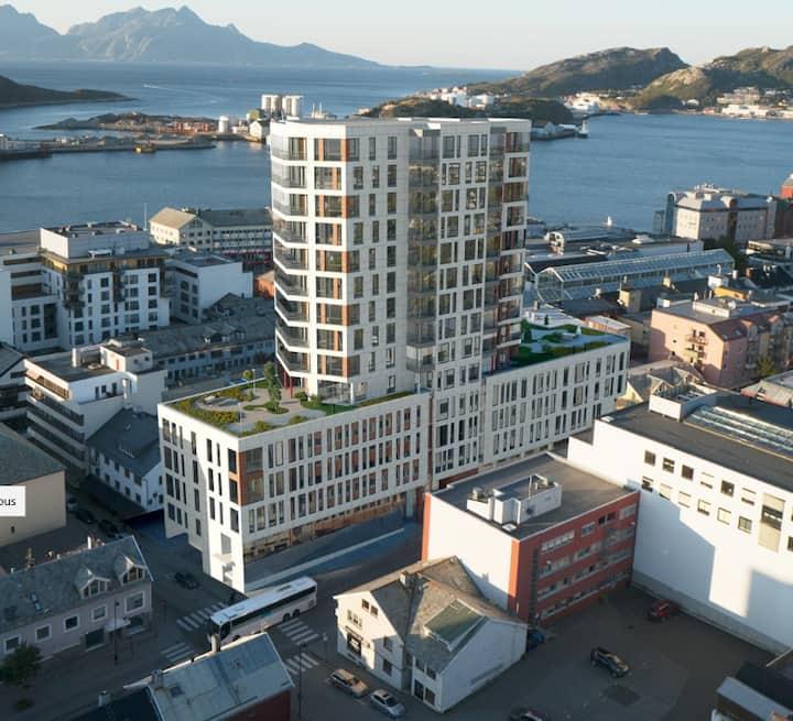 Eksklusiv leilighet med panoramautsikt midt i Bodø