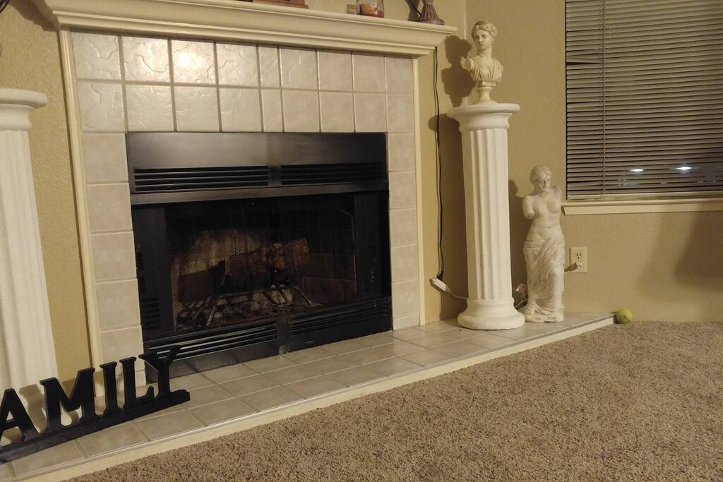 Sit and enjoy an evening in front if the fireplace