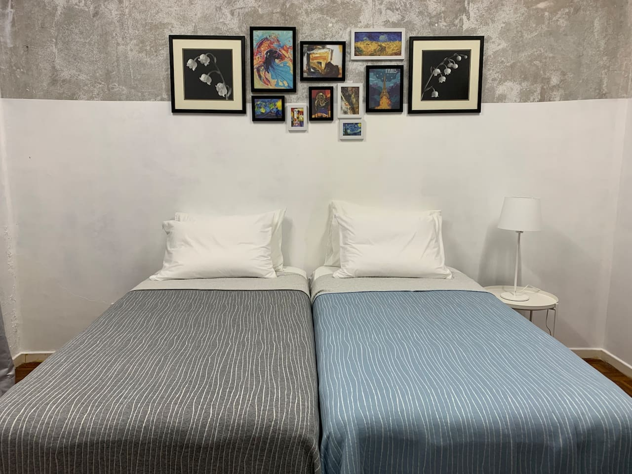 Room 1: Two single bed in a good-sized bedroom
