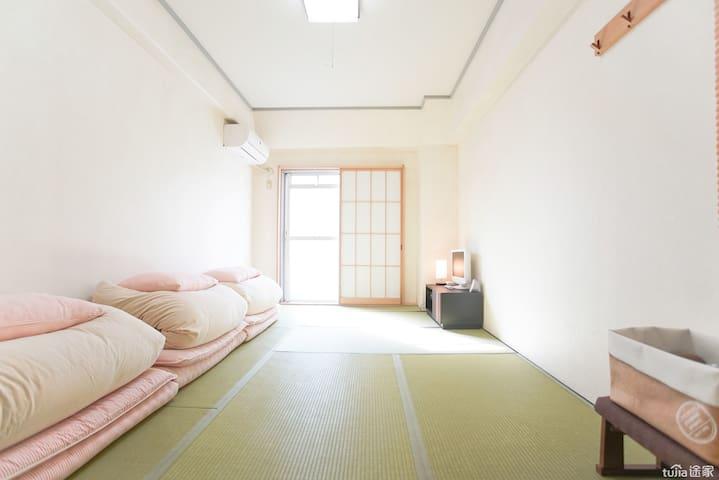 #E 離車站徒步3分,新宿(Shinjuku)電車4分/原宿10分/渋谷15分/東京17分