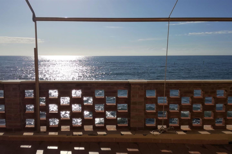 on the sea!
