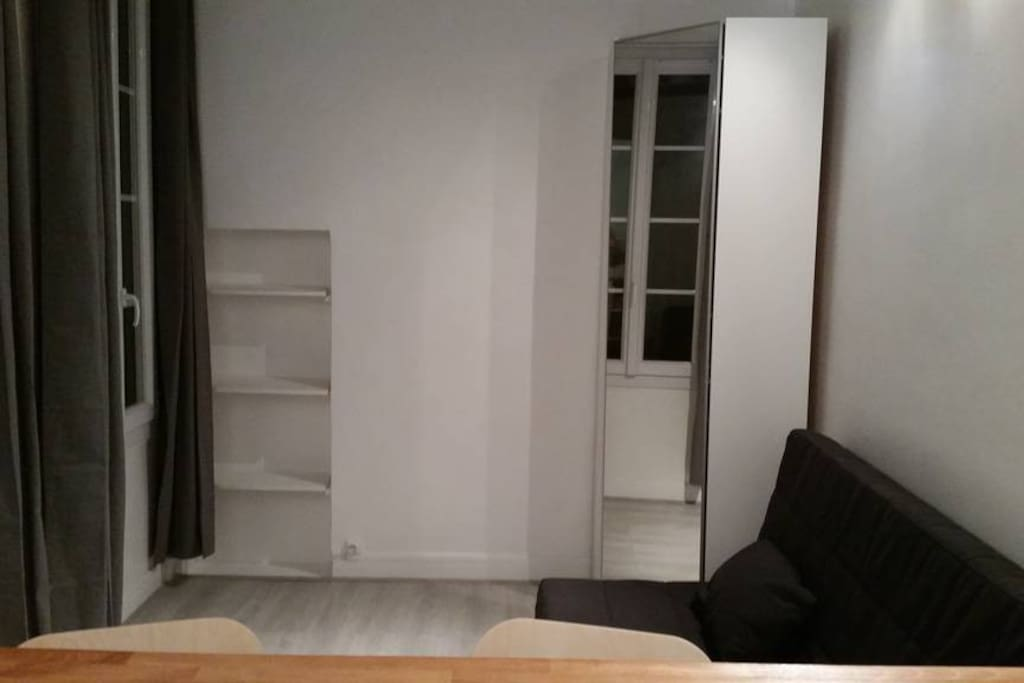 Sofabed and storage