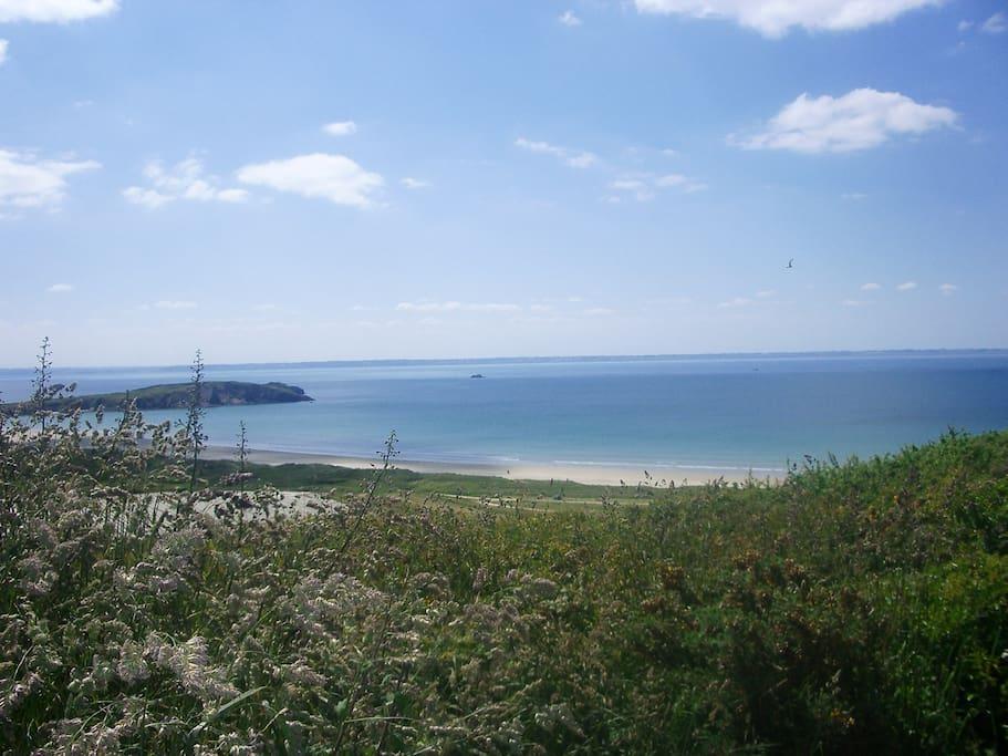 La plage de l'aber située à moins de 2 kms