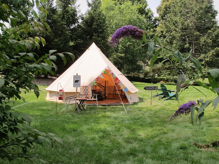 Vintage Style Canvas Bell Tent