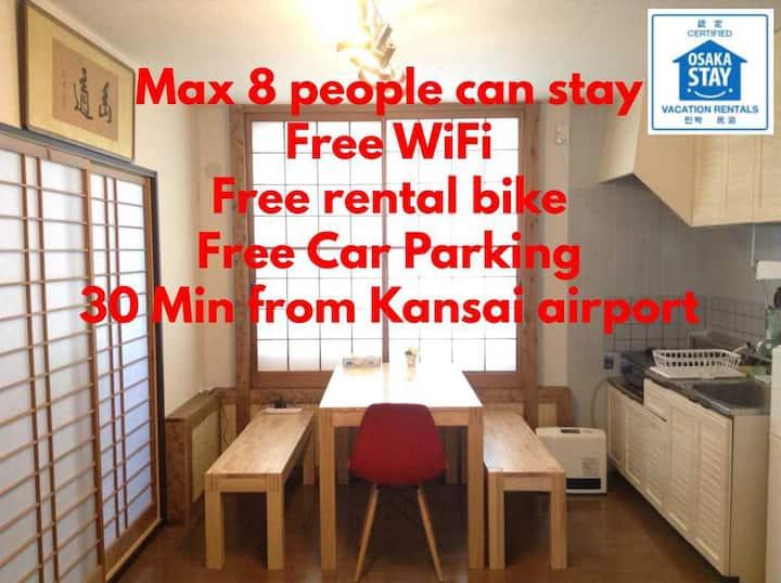 Whole space rental/Max 8 stay/Parking free/sakai