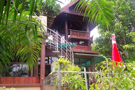 3 bedroom A/C Thai villa, spa pool, WiFi, BBQ, TV - Koh Mak - Villa
