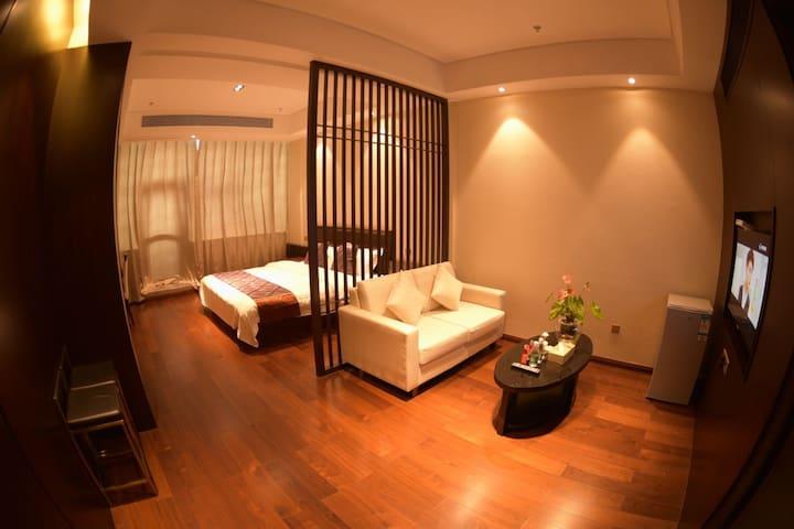 近机场、近方特、近滨海浪漫旅游线金都品悦豪华大床房