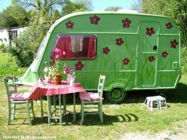 Poppy: cute caravan on pretty farm. - Saint Austell - Дом на колесах