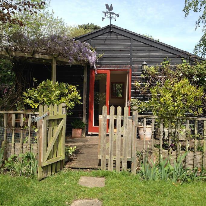 Front of Garden Cabin