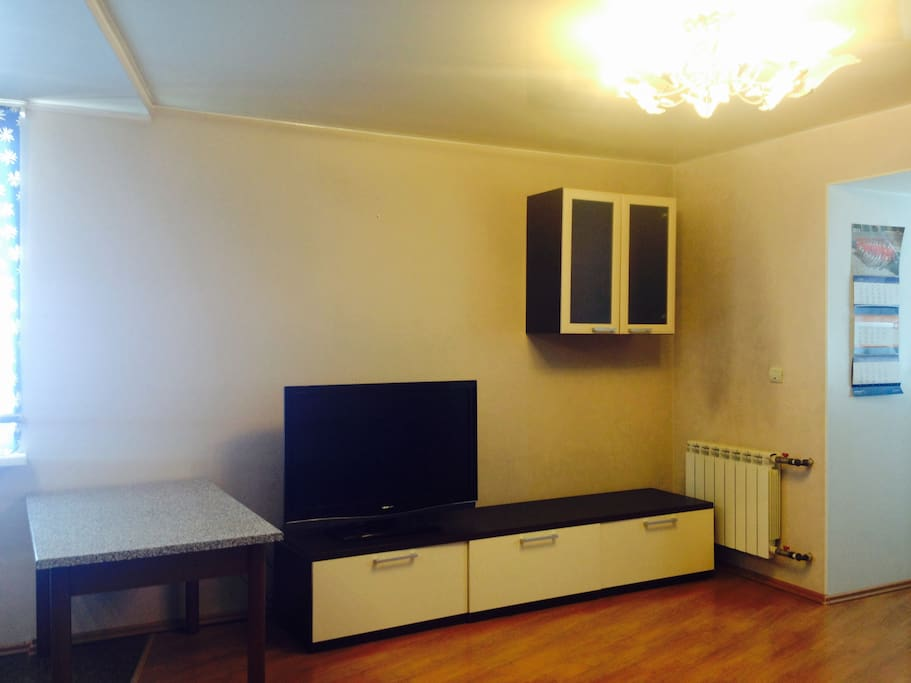 Зал с кухней 25 м2