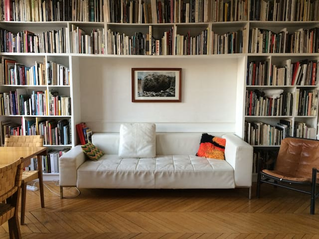 GREAT ROOM 1 IN PARIS/CHAMBRE DANS BEL APPARTEMENT