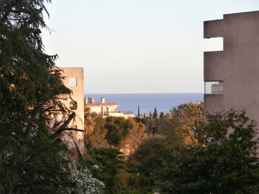 Vue de la terrasse sud côté sejour