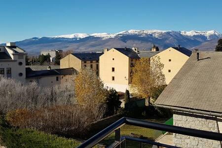 PRECIOSO ÁTICO CON ENCANTO Y VISTAS, CENTRO OSSEJA - Osséja - Apartment