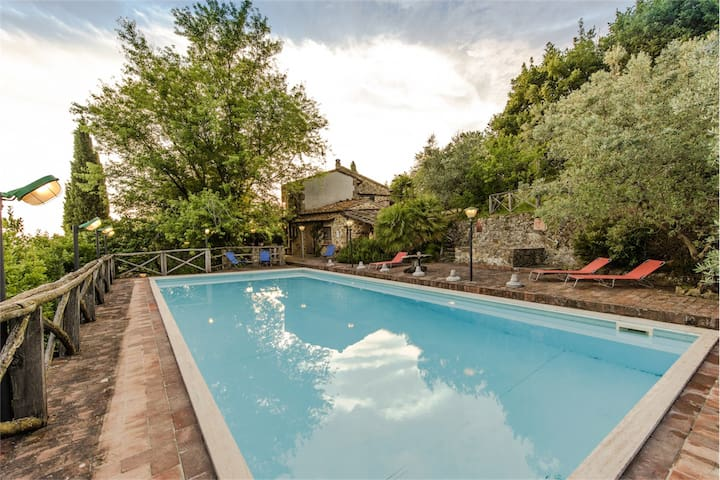 Tuscan villa with panoramic pool - Porciano - Dom