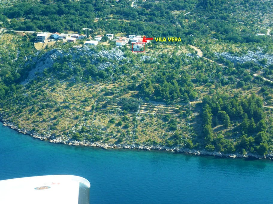 Aerial photo of Villa Vera