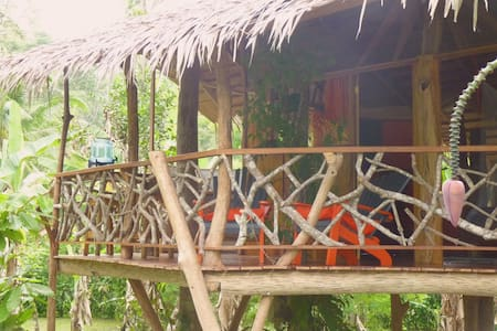 3 Bamboo Ecolodge - Tree House 3 pers - Lombház