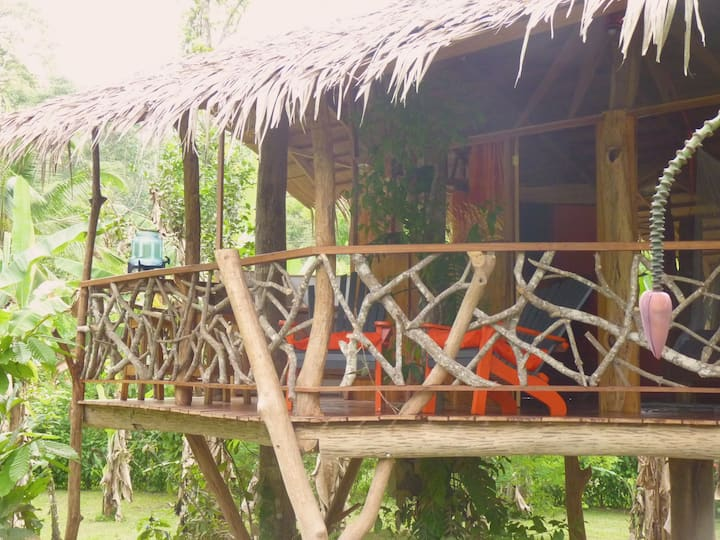 3 Bamboo Ecolodge - Tree House Diro 3 pers