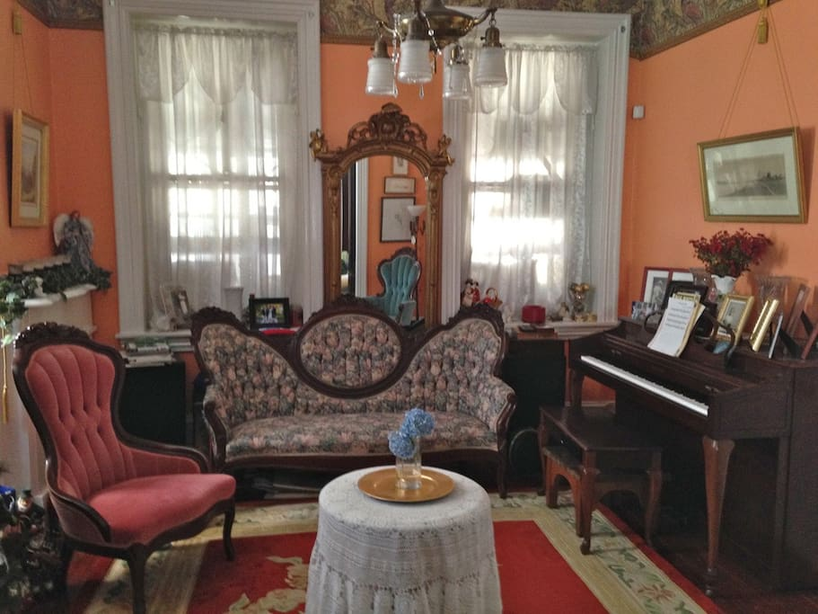 Front Parlor and Music room.