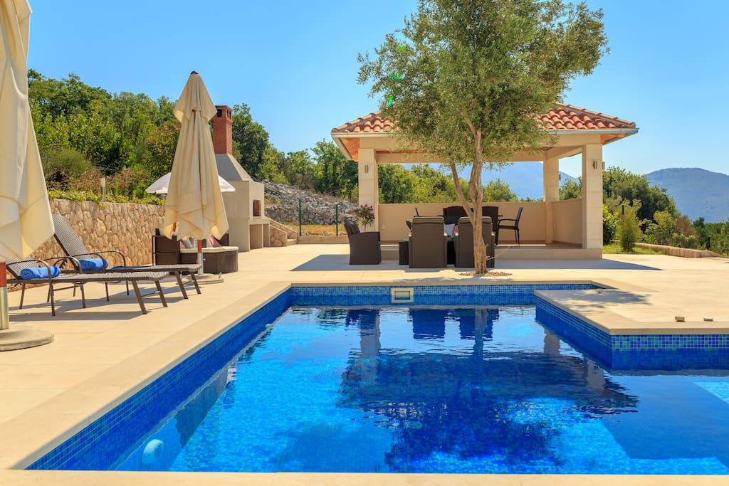 Swimming pool and lounging area