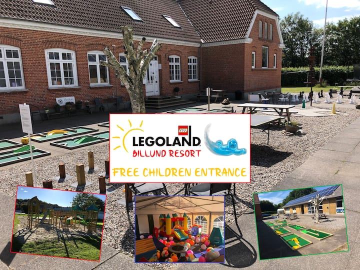 Family resort 10 person room - Close to LEGOLAND